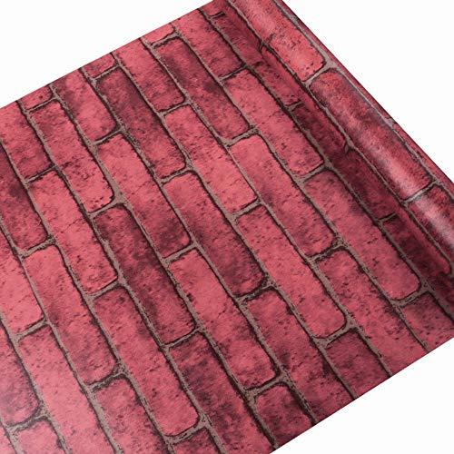 ACCEY papel de pared brick wallpaper Tapete Wasserdichter 3D-Wandaufkleber in Rollengröße von 45cm * 10m-Black_China_10mx45cm