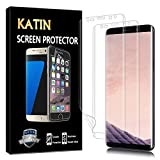 KATIN Galaxy S8 Plus Screen Protector - [2-Pack] Screen Protector for Samsung Galaxy S8 Plus, Full Max Coverage with Case Friendly, HD Clear Anti-Bubble Film