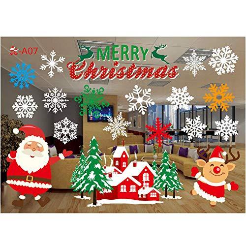 Daxerg Christmas Window Decoratieve stickers Innovatieve Variety Shape Wall Glass Stickers Decor