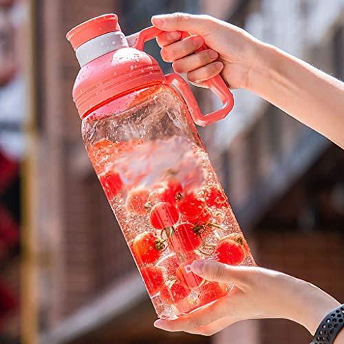 Xiaodou Outdoor Sportflasche aus Fitness Kettle große Kapazitäts-Plastikbecher Outdoor Sports beweglicher Filter Kettle Haushalts Kettle 2800 ml Versiegelt Auslaufsicher Wasserflasche