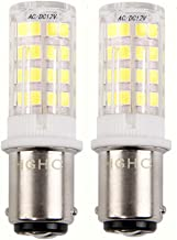 5W Ba15d LED Light Bulb AC/DC 12V Daylight 6000K 35W Equivalent, Double Connect SBC Bayonet Ba15d 1141 1156 1073 1093 LED ...
