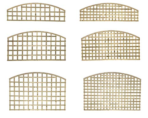 PGS Premier Arch Trellis Garden Lattice Fence Topper Various Sizes 2&3&4ft Treated (Privacy Hole Size 65mm, 91)