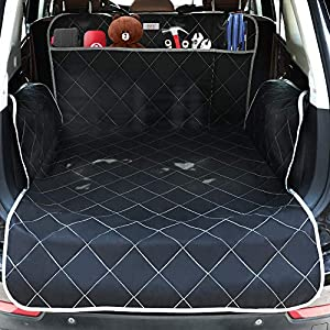 njnj Pet Cargo Liner for SUV – Extra Large Pockets,Heavy Duty Durability Mats for Dogs,100% Waterproof Cargo Cover,Nonslip Backing,Bumper Flap Protector,Large Size Universal Fit