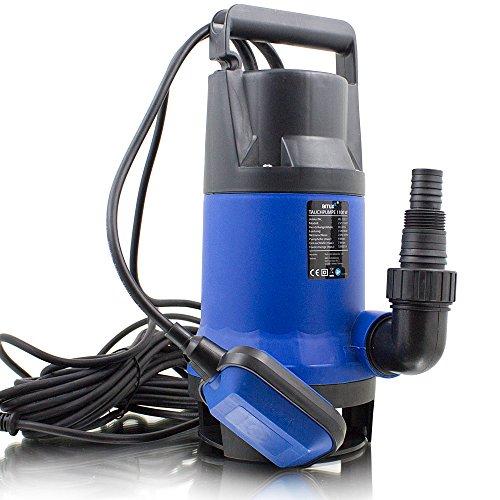 BITUXX® 1100W Tauchpumpe Schmutzwasserpumpe für Brunnen Zisterne Bewässern Garten Regentonne Schmutzwasser