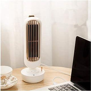 Torre de ventilador de escritorio USB silencioso fuerte viento 2 en 1 de pulverización de agua del ventilador del acondicionador de aire de ventilación Los aficionados (Color : Blanco)