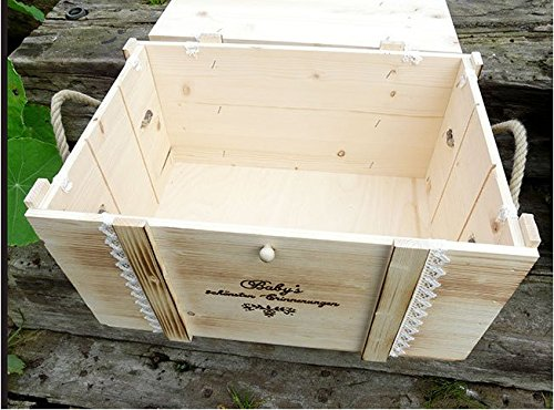 Erinnerungskiste Vintage aus Holz mit Wunschmotiv - Hochzeitsgeschenk personalisiert - Erinnerungskiste mit Gravur - Hochzeitskiste - Hochzeitstruhe - 7