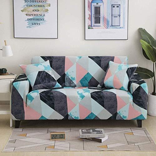 LXWLXDF-Funda de sofá 1 Pieza estiramiento Sofá Cover Poliéster Spandex Impreso con elástico inferior y antideslizante espuma Sofá cubrir los muebles protector for el sofá muebles del sofá de la cubie