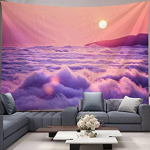 Tapiz de puesta de sol Mandala tapiz colgante de pared bohemio gitano psicodélico brujería tapiz tela colgante A3 150x200cm