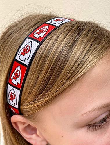 Chiefs headband. Women's girls gift nonslip. 7/8