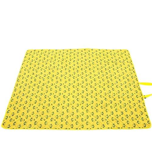 WLD Bodenmatte Picknickmatte Im Freien Waschbar Picknickmatte Oxford Tuch Picknickmatte Feuchtigkeitsauflage Erhöhen Verdickung Zeltauflage Bodenmatte 200X145 Picknickmatte Groß,B