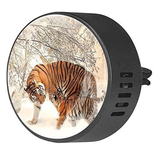 MUMIMI Difusor de aceites esenciales para aromaterapia para coche, 2 unidades, diseño de tigre