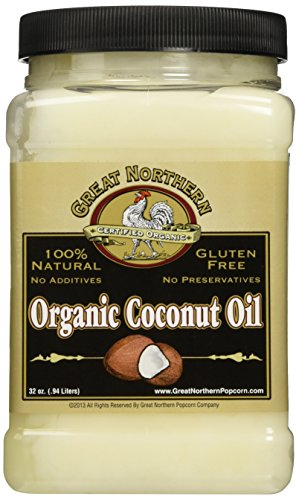 4215 Great Northern Popcorn Premium Organic Coconut Oil, 32 Ounces