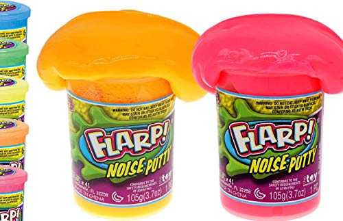 JA-RU Flarp Noise Putty Scented Squishy Sensory Toys for Easter, ADHD Autism Stress Toy, Great Party Favors Fidget for Kids and Adults Boys & Girls. (2 Units Assorted) 10041-2p