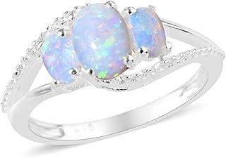 4ea28b0150f0b Amazon.co.uk: Opal - Rings / Women: Jewellery