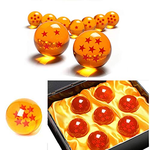 VDSY Lot de 7 boules en cristal Dragon Ball Z - 1 à 7 étoile