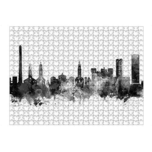 artboxONE Ravensburger-Puzzle L (500 Teile) Städte Erlangen Germany Skyline bw