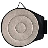 Seat Cushion 360° Rotating Swiveling Car Seat Cushion Auto Swivel Cushion Seat with Anti-Slip Base for Car Seat Home Office Chairs (Beige)