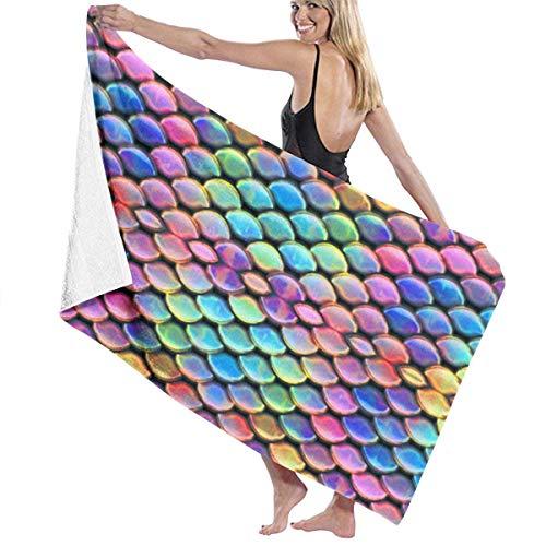 Droogdoeken zacht en snel Sirena handdoeken wasbaar in de wasmachine en super waterhanddoeken voor zee handdoeken zonder zand voor de zomer, 31 x 51 inch