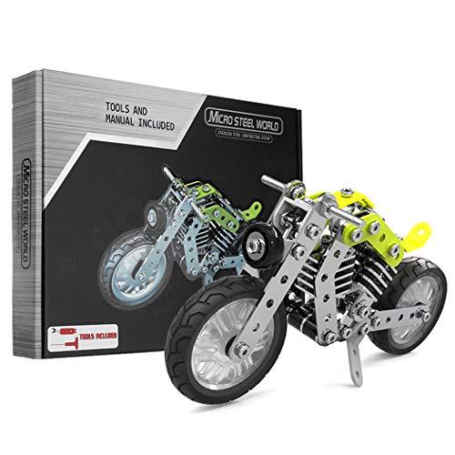 GGIENRUI Motorcycle Building Blocks Set 158PCS STEM Kids Educational DIY Motorcycle Model Kit Best Birthdays Children's Gifts