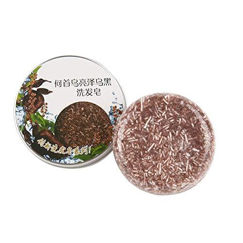 Barre de Shampooing, Angmile Barre Solide Shampooing Savon Croissance des Cheveux Barre Savonneuse pour la Perte de Cheveux Nettoyage usine Shampoo & Conditioner 100% Naturel (Polygonum Multiflorum)