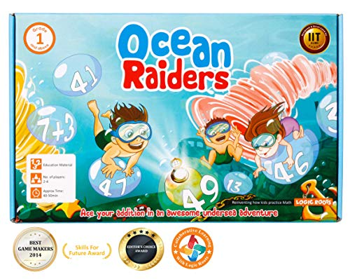 LogicRoots Ocean Raiders Math Addition Board Game