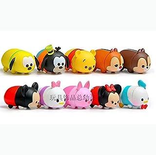 Disney Tsum Tsum Action Figure Mickey Minnie Goofy 10 pcs Pooh Doll Play set Toy