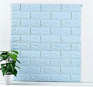 NYAL ENTERPRISE PVC Foam Brick Wall Tile Sticker, 77 x 70 cm, Sky Blue