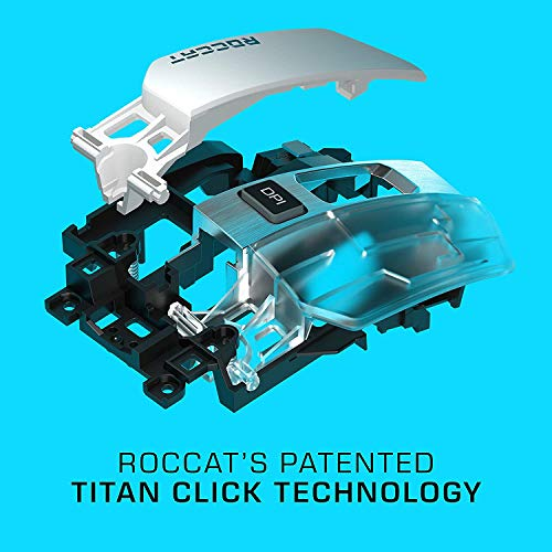 Roccat Kain 200 AIMO RGB Gaming Maus (16.000 Dpi Owl-Eye Sensor, Kabellos, Titan Click Technologie), schwarz - 6