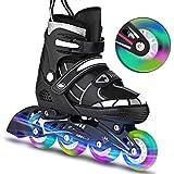 Laiozyen Rollers pour Enfants/Adolescents/Adultes, à Taille réglable - roulis Avant Luminous in Lines Skates Rollers en Ligne (Typ3, EU_39-42)