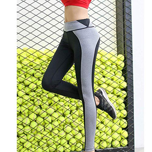 CHNDDK Zachte Gym Leggings met Pocket Yoga Broek Mesh - Non See-through Hoge Taille Fitness Panty voor Dames