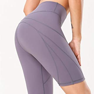 Beiziml Fitness Sports Shorts High Waist Compression Comfy Naked Feel Women Exercise Running Shorts Sexy Booty Tummy Contr...