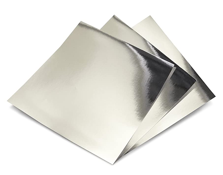 Hygloss Products Metallic Foil Board Sheets - 12 x 12 Inches – Silver, 10 Pack