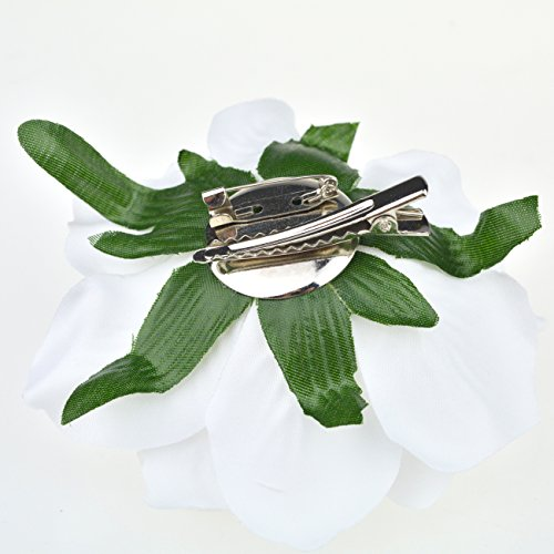 DRESHOW Flower Hair Clip Rose Hairpin Floral Brooch Floral Hair Clips for Women Rose Hair Accessories Wedding Pack 5/16 5