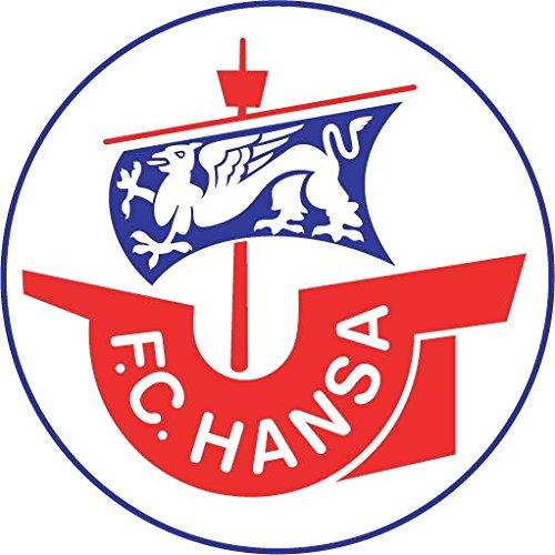 FC Hansa Rostock Germany Soccer Football Hochwertigen Auto-Autoaufkleber 12 x 12 cm