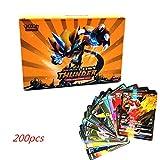 Anivia 【Nouvelle Mise À Niveau】 200PCS/Set Pokemon Carte Contient 20ENERGY,...