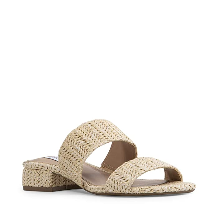Vintage Sandals | Wedges, Espadrilles – 30s, 40s, 50s, 60s, 70s Steve Madden Jaron Flat Sandal Natural Raffia Womens Shoes $74.99 AT vintagedancer.com