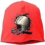 Casquette De Crâne Femme Bonnet Rugby Casque Chapeau en Tricot Chapeau Chaud Hip-Hop Hat
