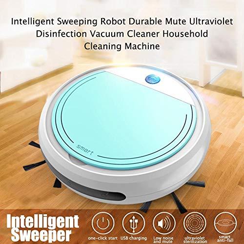 tingtin Robot Aspirador, Barredora Ultravioleta Auto Silenciosa Limpia Pisos Duros para Alfombras De Pelo Medio Trendy