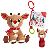 Rudolph The Red-Nosed Reindeer Set with Stuffed Animal,...