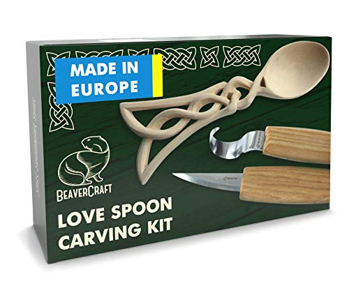BeaverCraft, Spoon Carving Kit for Beginners DIY04 - Wood Carving Whittling Hobby Kit for Adults and Teens - Wood Carving Knives - Wood Carving Hook Knife - Woodworking Tools - Spoon Carving Tools
