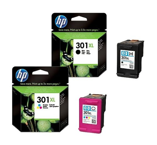 XL Multipack von HP für 1 Nr 301 ( 2x XL Patronen, Color + Black) HP Nr. 301 Druckerpatronen
