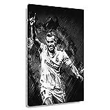 Fußballstar Gareth Bale Poster Wandkunst Deco Badezimmer