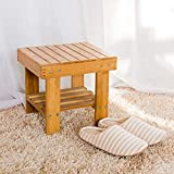 Lysenn Wooden Step Stool for Kids Toddlers Adults - Portable Small Foot Stool Upgrade - Kitchen Bathroom Bedroom