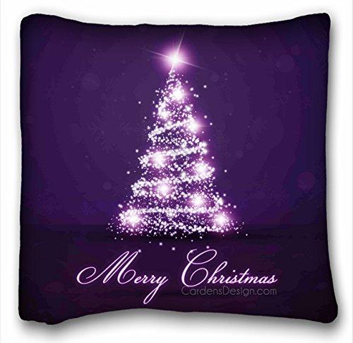 AEMAPE Lights Christmas Tree Nature Purple Winter Sparkle - Funda de cojín 40X40 Cm