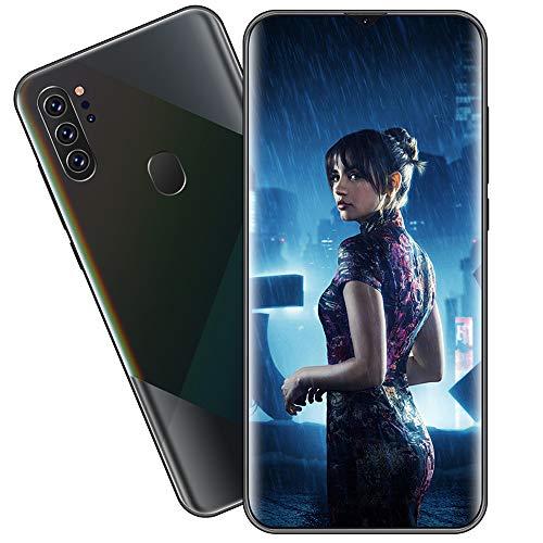 EDANQ Smartphones Desbloqueado M80 (8GB + 512GB) 6.7'HD teléfono móvil, con 13MP + 24MP AI teléfono Celular con cámara cuádruple Ultra Ancha, batería de Gran Capacidad 4800mAh Android 10,Negro