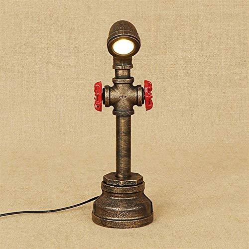 CSD Vintage Industrial Tabla Caño de agua lámpara de metal creativo Lámpara de escritorio, sin bombilla (Color : A)