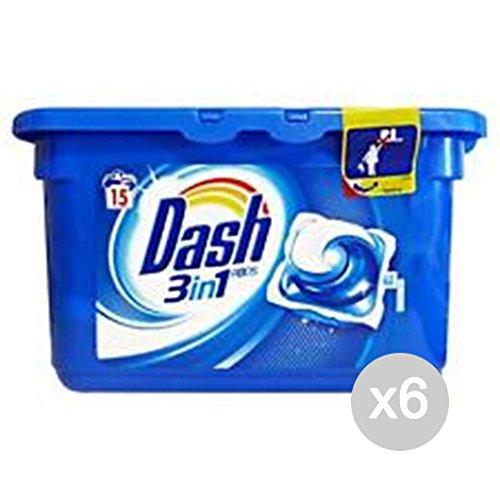 Set 6 DASH Lav. 3In1 15 Ecodosi Pods Classico Detersivo Lavatrice E Bucato