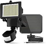 ERAY Lampe Solaire Extérieure 100 LEDs avec Détecteur de Mouvement, 700 Lumens/Etanche IP44/ Modes Réglable/Panneau Solaire Avancé pour Jardin, Garage, Patio, Terrasse, Allée (B)