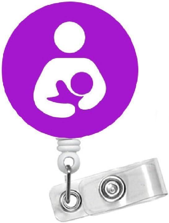 Name Badge Holder Breast Feeding Badge Retractable Badge Reel Lactation Consultant Purple 1.5 Breastfeed Badge Badge Reels