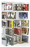 SORA Scaffale modulare per CD in Acrilico con Pannello Posteriore a Specchio